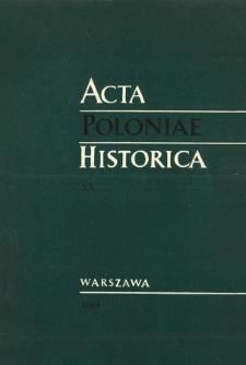 Acta Poloniae Historica T. 20 (1969), Strony tytułowe, spis treści