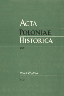 Acta Poloniae Historica. T. 25 (1972), Title pages, Contents