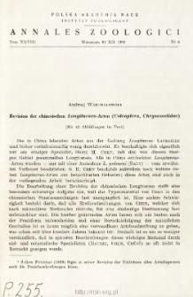 Revision der chinesischen Longitarsus-Arten (Coleoptera, Chrysomelidae)