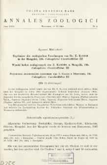 Ergebnisse der zoologischen Forschungen von Dr. Z. KASZAB in der Mongolei, 116. Coleoptera: Coccinellidae III = Wyniki badań zoologicznych dra Z. KASZABA w Mongoli, 116. Coleoptera: Coccinellidae III