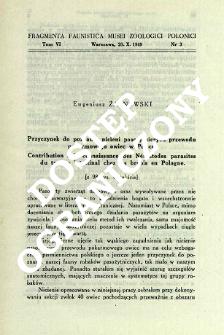 Fragmenty k zoogeografii strekoz (Odonata) mira. 1 = Przyczynki do zoogeografii ważek (Odonata) świata. 1