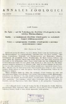 Die Ägäis - und die Verbreitung der Zonitidae (Gastropoda) in den östlichen Mittelmeerländern = Egeida - a rozmieszczenie Zonitidae (Gastropoda) we wschodnich krajach śródziemnomorskich