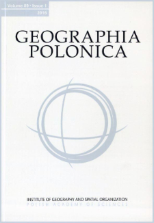 Geographia Polonica Vol. 89 No. 1 (2016), Contents