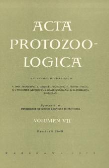 Acta Protozoologica, Vol. VII, Fasc. 23-30