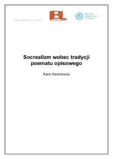 Socrealizm wobec tradycji poematu opisowego