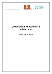"""""""Pracowita Pszczółka"""" i kalendarze"""