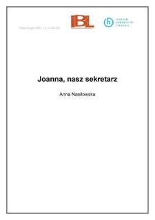 Joanna, nasz sekretarz