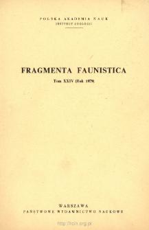Fragmenta Faunistica - Strony tytułowe, spis treści - t. 24, nr. 1-9 (1979)