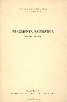 Fragmenta Faunistica - Strony tytułowe, spis treści - t. 22, nr. 1-8 (1978)