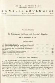 Die Weberknechte (Opiliones, excl. Sironidae) Bulgariens