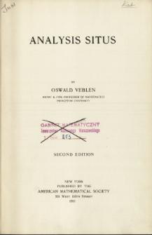 Analysis situs