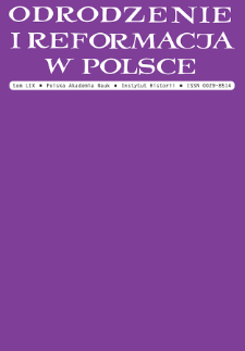 On the relationship between the Antitrinitarians in Poland and in Nürnberg: a letter addressed to Ernst Soner