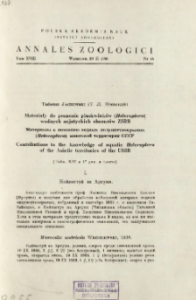 Studies on the morfology of larval stages of water mites (Hydracarina). 1, Descriptions of three species of the genera Protzia PIERSIG and Sperchon KRAMER