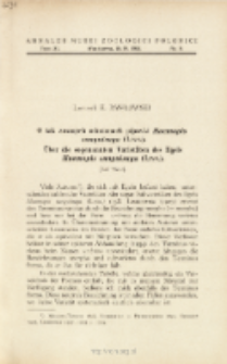 Über die sogenannten Varietäten des Egels Haemopis sanguisuga (Linn.) = O tak zwanych odmianach pijawki Haemopis sanguisuga (Linn.)