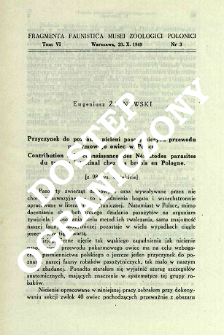 Contributions to the knowledge of Aquatic Heteroptera of Egypt = Przyczynki do znajomości pluskwiaków wodnych Egiptu