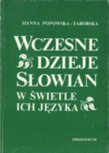 Wczesne dzieje Słowian w świetle ich języka