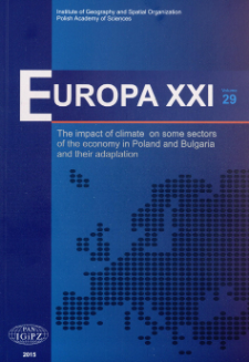 The present and future state of the climate in Poland and Bulgaria