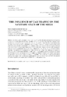 The influence of car traffic on the sanitary state of the soils