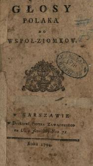 Głosy Polaka Do Wspoł-Ziomkow. [1-4]