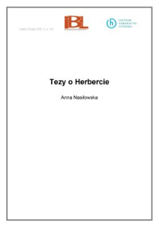Tezy o Herbercie (wstęp)