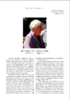 Prof. dr hab. Zofia Kurnatowska : 9 czerwca 1932 - 11 sierpnia 2013