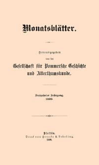 Monatsblätter Jhrg. 13, H. 1 (1899)