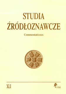 Studia Źródłoznawcze = Commentationes T. 41 (2003)