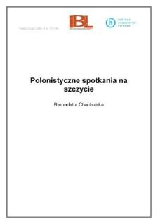 Polonistyczne spotkania na szczycie