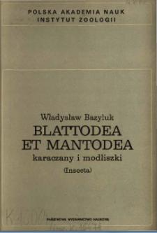 Blattodea et Mantodea - karaczany i modliszki (Insecta)
