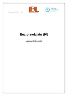 Bez przydziału (IV)