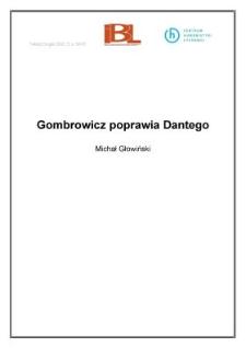 Gombrowicz poprawia Dantego