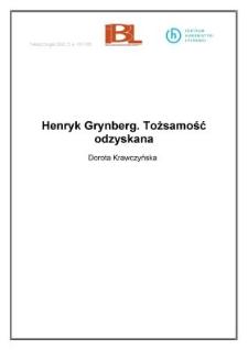 Henryk Grynberg. Tożsamość odzyskana