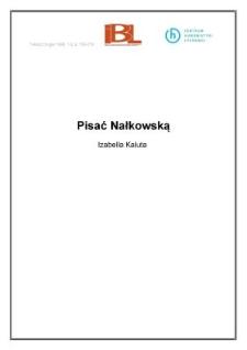 Pisać Nałkowską