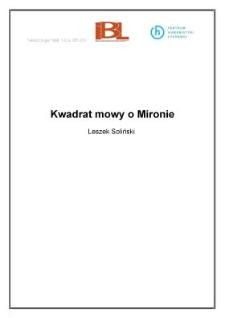 Kwadrat mowy o Mironie