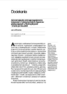 Autonarracja jako strategia negocjowania tożsamości w tekstach polskich migrantów przebywających w Wielkiej Brytanii i Irlandii po roku 2004
