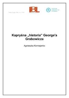 """Kapryśna """"historia"""" George`a Grabowicza"""