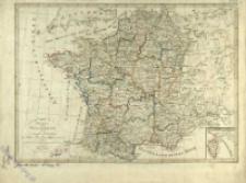 Charte von Frankreich nach der neuesten Eintheilung in 22 Militair - Divisionen, 86 Departemente mit Bezichung auf die alte Eintheilung in Provinzen entworfen
