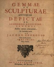 Gemmae Et Sculpturae Antiquae. P. 1