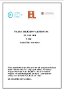 Polska Bibliografia Literacka za rok 1949 oraz dodatek 1944-1949