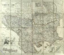 General-Karte der Europäischen Türkei un des Vladikats Montenegro
