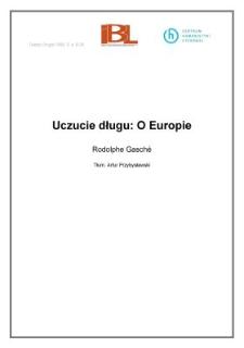 Uczucie długu: O Europie