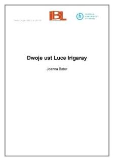 Dwoje ust Luce Irigaray