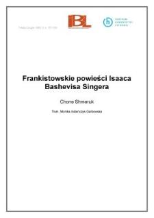 Frankistowskie powieści Isaaca Bashevisa Singera