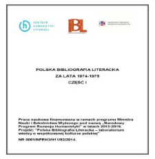 Polska Bibliografia Literacka za lata 1974-1975, część I