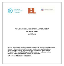 Polska Bibliografia Literacka za lata 1980, część I