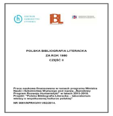 Polska Bibliografia Literacka za rok 1980, część II