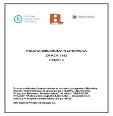 Polska Bibliografia Literacka za rok 1982, część II