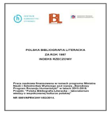Polska Bibliografia Literacka za rok 1987, Indeks rzeczowy