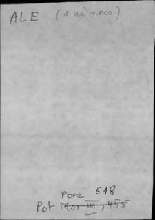 Kartoteka Słownika języka polskiego XVII i 1. połowy XVIII wieku; Ale2 - Albowiem