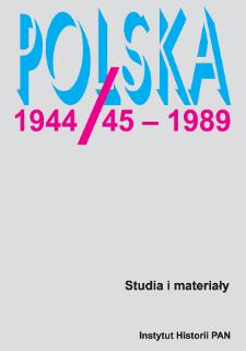 Polska 1944/45-1989 : studia i materiały 1 (1995), Wstęp